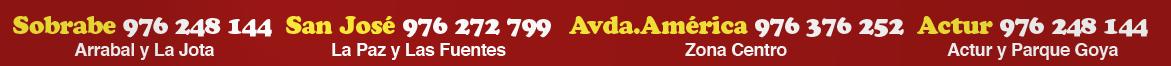 KEBAB  Arrabal · Tel. 976 248 144 KEBAB San Jose · Tel. 976 272 799 - KEBAB Av. América Tel. 976 376 252  - KEBAB Actur 976 248 144