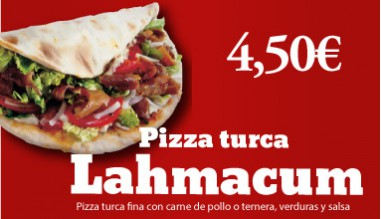 Menu Lahmacum Pizza Turca